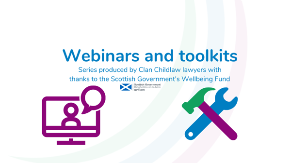 New Webinars and Toolkits on legal issues affecting children and young people